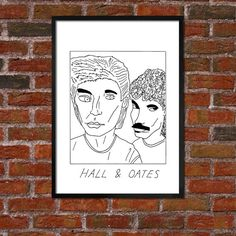 Badly Drawn Hall & Oates - Poster
