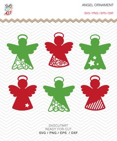 Angel Christmas Ornament SVG DXF PNG eps Vinyl winter christmas new year holy decal Cricut Design, Silhouette studio, Instant Download by SvgCutArt on Etsy