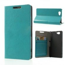 Capa Sony Xperia Z1 Compact Flip Stand Wallet Azul  9,99 €