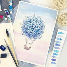 Watercolorist: @svetlanaeremeeva_art  #waterblog #акварель #aquarelle #painting #drawing #art #artist #artwork #painting #illustration #watercolor #aquarela