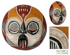Handcrafted Wood 'Woman of Fire' African Tribal Mask (Ghana ...