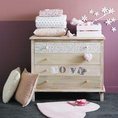 2 caisses en bois rose L 30 et L 40 cm PASTEL   Maisons du Monde http://www.homelisty.com/ou-trouver-caisses-en-bois-cagettes/