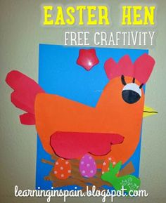 Easter craft template can also be for little red hen with a few changes