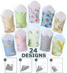 LUXURY SWADDLE WRAP BLANKET NEWBORN BABY INFANT PRAM DUVET / SLEEPING BAG