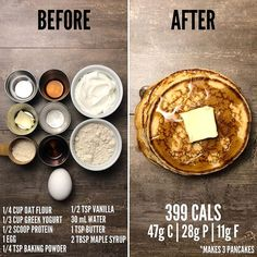 When I was in college, my roommates and I would wa… Gluten Free Protein Pancakes. When I was in college, my roommates and I would watch a movie and make pancakes every Saturday morning. Healthy Meal Prep, Healthy Snacks, Healthy Eating, Keto Meal, Clean Eating, Real Food Recipes, Cooking Recipes, Vegetarian Recipes, Healthy Recipes