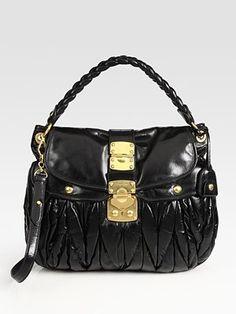 Miu Miu - Matelasse Lux Convertible Shoulder Bag - Saks.com