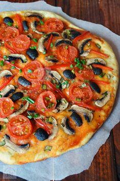 Pizza Recipes, Vegetarian Recipes, Cooking Recipes, Healthy Recipes, Pizza Lasagna, Romanian Food, Raw Vegan, Vegan Food, Pasta