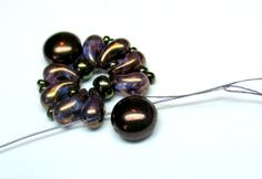 "Bracelet ""VIOLETS"" with Zoliduo beads 