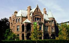 The Whitney mansion, Detroit, MI had a marvellous breakfast here with Glen.
