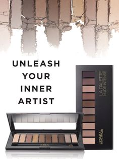Loreal's newest eyeshadow collection   2 Shadow Palettes, Endless Expert Nude Looks from Loreal Paris Celebrity Makeup Artist, Sir John.   10 highly pigmented shades range from light to dark to flatter every skin tone in 3 shadow finishes: shimmery satin, buttery matte & lustrous sheen.  Unleash Your inner artist