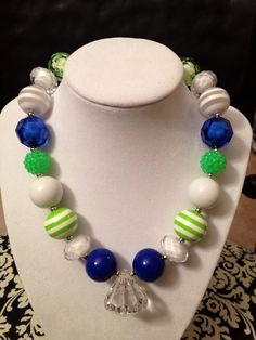 Girls Seahawks Necklace