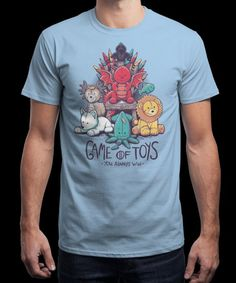 """Game of Toys"" is today's £9/€11/$12 tee for 24 hours only on www.Qwertee.com Pin this for a chance to win a FREE TEE this weekend. Follow us on pinterest.com/qwertee for a second! Thanks:)"