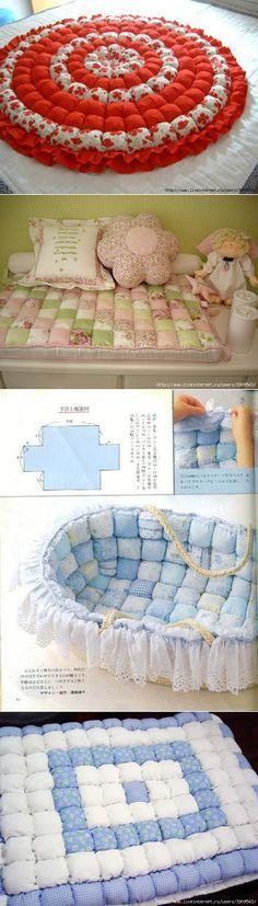 Мягкие подушечные коврики, пледики и прочее...
