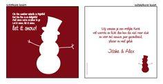 #kerstkaarten, #kerstkaartje, #Modern #kerst #kaart #christmas #ontwerpen #zelfontwerpen #sneeuwpop #rood #wit #songtekst