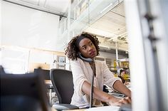 Female Worker On Computer Stock Photos And Images | Getty Images