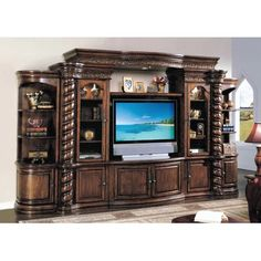 Wildon Home ® Barrington Entertainment Center Entertainment Center Wall Unit, Home Entertainment Centers, Barrington Homes, Built In Wall Units, Wall Unit Designs, Cool Tv Stands, Old World Style, Building A House, The Unit