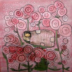 Among the Roses Archival Print by johannawright on Etsy, $25.00