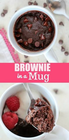 IN A MUG -Satisfy your brownie craving in minutes with this fudgy and delicious Brownie in a Mug. Grab a spoon and dig in!BROWNIE IN A MUG -Satisfy your brownie craving in minutes with this fudgy and delicious Brownie in a Mug. Grab a spoon and dig in! Mug Brownie Recipes, Brownie In A Mug, Mug Recipes, Sweets Recipes, Chocolate Recipes, Best Chocolate Mug Cake Recipe, Delicious Chocolate, Cake Recipes, Sweets