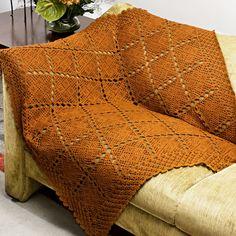 Manta de Sofá Ferrugem Camila #crochê #decoração #sala #CoatsCorrente