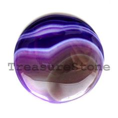 Cabochon, agate (dyed), 40mm round. TreasureStone Beads Edmonton