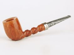 Michael Parks Estate Pipe Spiral Shank Billiard w/ Titanium UNSMOKED!