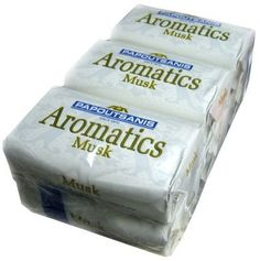 Papoutsanis Aromatics Greek Soap Musk 6 PACK of 4 Oz Bars by Papoutsanis. $8.99. Top quality Greek Soap. Musk Scent. great value when buying this 6-pack. Papoutsanis is amongst Greece's largest and best soap manufacturers. Their fine soaps are highly sought after and available in several scents.