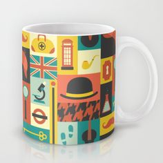 Sherlock Coffee Mug by arielwilson Sherlock Mug, Sherlock Holmes, Tea And Books, Creative Coffee, Coffee Dessert, Cute Cups, Cool Mugs, I Love Coffee, Mug Cup