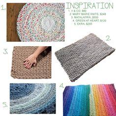 RAG RUG (with tutorial on making seamless fabric yarn)
