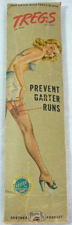 They iron to your full fashioned stockings to prevent garte… How cool are these? They iron to your full fashioned stockings to prevent garter run. Vintage Stockings, Silk Stockings, Stockings And Suspenders, Advertising Signs, Vintage Advertisements, Vintage Ads, Nylons, Chic Et Choc, Vintage Girdle