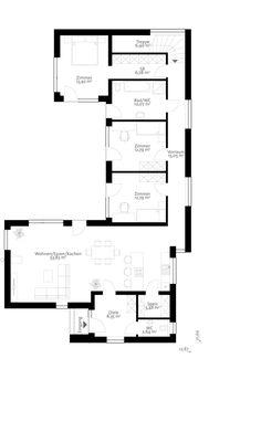 B Source by annavanzanten Cottage Floor Plans, Open House Plans, House Floor Plans, Flat House Design, Simple House Design, L Shaped House Plans, Philippines House Design, Philippine Houses, Home Building Design