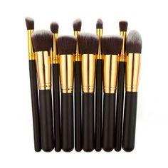 10Pcs Professional Makeup Brushes Easy Set Make Up Powder Brushes Maquillage Beauty Cosmetic Tools Kit Eyeshadow Lip Brushes #BSEL