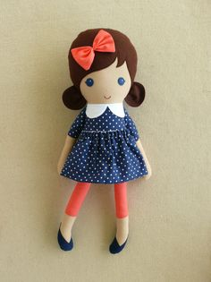 Reserved for Marcia - 4 Fabric Dolls Rag Dolls - Custom Order