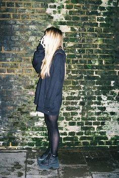 #girl #smoke #smoking #hood #pants #shoes #fashion #clothing #clothes #ghetto #stand #thinking