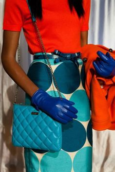 some very bright Kate Spade!  THAT SKIRT!!