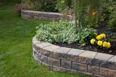 StackStone Chamois Blend Garden Walls (3) Front House Landscaping, Stone Landscaping, Landscaping Plants, Landscaping Ideas, Backyard Ideas, Backyard Patio, Garden Edging Stones, Landscape Edging Stone, House Landscape