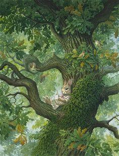 Chris Dunn Illustration 'Paisley Rabbit & The Treehouse Contest'