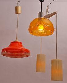 Drie Hanglampen 70's