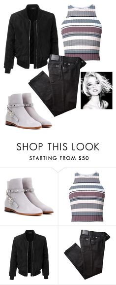 """""""Untitled #583"""" by mina-polyvore ❤ liked on Polyvore featuring Valentino, Elizabeth and James, LE3NO and BRAX"""