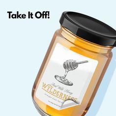 Organizing, Organization, Remove Labels, Business Stickers, Jar Labels, Cricut Tutorials, Simple Life Hacks, Beekeeping, Crafty Craft