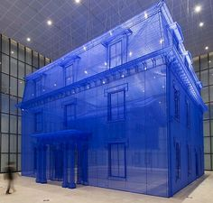 Artist Do Ho Suh compares his previous homes by creating 1:1 silk replicas , one inside the other