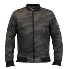 Mens Jacket Brave Soul MA1 Harrington Camo Military Bomber Baseball Badge  Coat 901c61334cd3