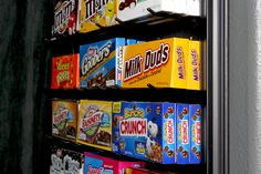 Movie Room Candy Display using Pegboard