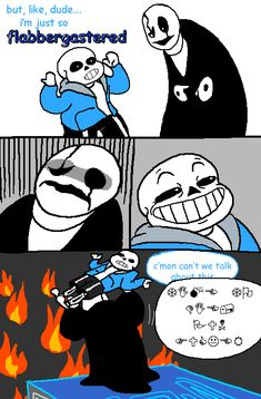 twinkens-art:it never ends OH MY GOD THE TRANSLATION OF THE WINGDINGS IS 'TIME TO DIE, PUN FUCKER'