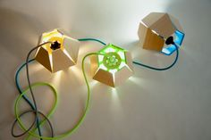 Capside Lamp, a geometric design that creates abstract shadows