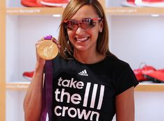 41dd161928c Olympic heptathlon champion Jessica Ennis goes for the red in custom Adidas  Eyewear Core Energy Red Adizero from Silhouette Optical.