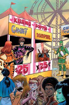 #Deadpool #Fan #Art. (Deadpool v Gambit #1 Variant Cover) By: Tim Seeley. (THE * 3 * STÅR * ÅWARD OF: AW YEAH, IT'S MAJOR ÅWESOMENESS!!!™) [THANK U 4 PINNING!!!<·><]<©>ÅÅÅ+(OB4E)    https://s-media-cache-ak0.pinimg.com/474x/b0/3d/95/b03d955600c35497b71a46872a17e297.jpg