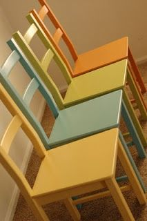 Then she made...: My chairs. This is exactly what I want to do for the kitchen chairs!
