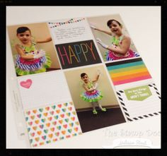 """""""I like to keep my pages simple, and the coordinating cards make it a piece of cake.  I know that I can easily go back and add more embellishments or journaling later."""" - Melissa Stout #PLxSU"""