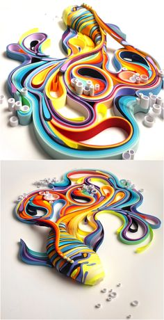 Incredibly Cool Colored Paper Sculptures By Yulia Brodskaya - Vibrant paper illustrations sculptures yulia brodskaya