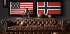 Framed Flags | Restoration Hardware  Something like this would be cool-- a framed American flag, plus a framed British flag (for Barry/Ryan)
